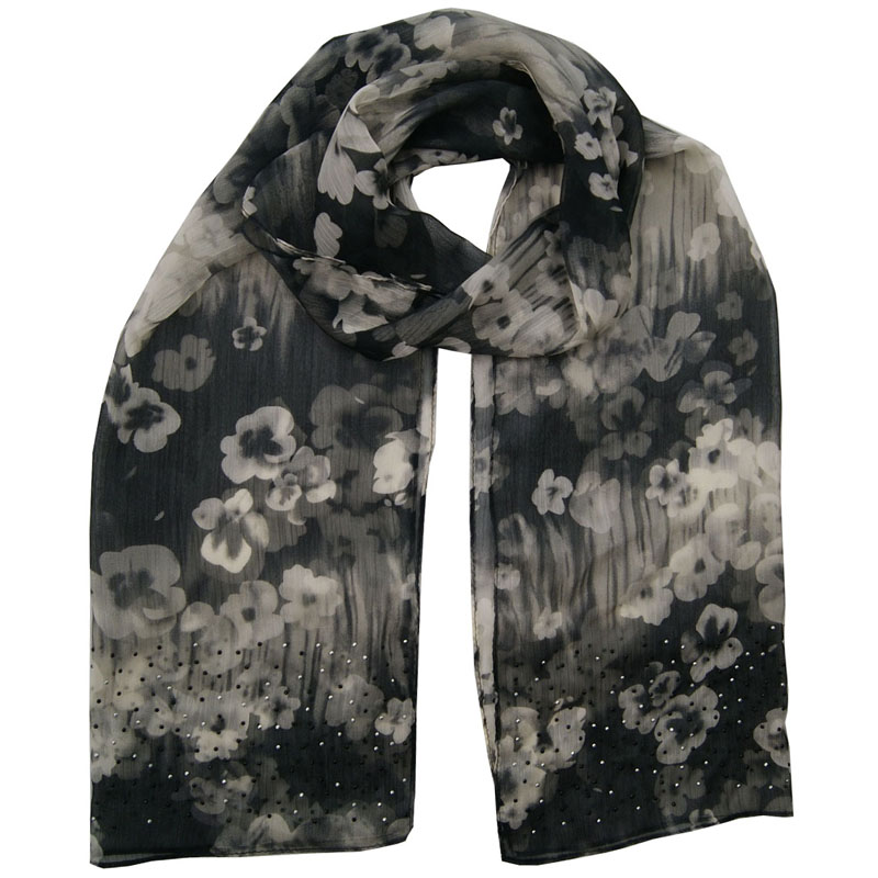 Lady Fashion Polyester Customized Wholesale Jacquard Woven Scarf