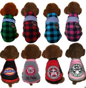 Wholesale Customized Hot sale Pet Clothes Acrylic Knitted Lovely Cute Dog Cloth