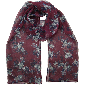 Polyester Customized Wholesale Lady Fashion Jacquard Woven Scarf