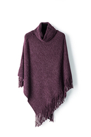 Hot selling high quality ladies winter shawl
