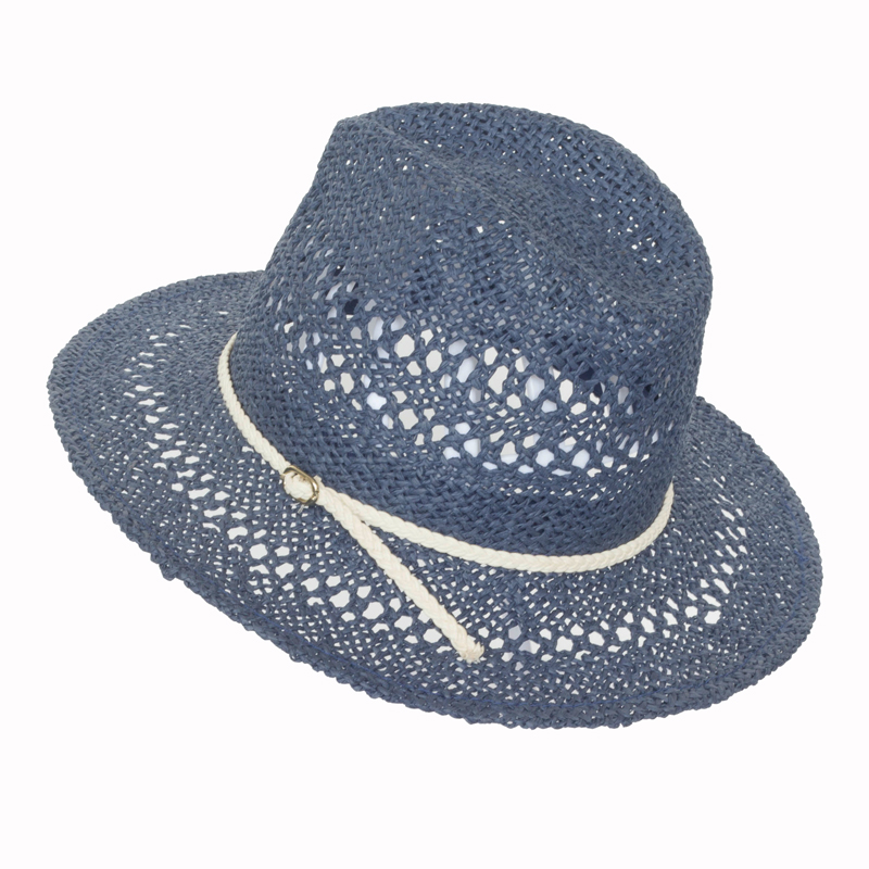 Lady Fashion 100% Straw Sun Dressed Floppy Hats Straw Hat /Cap