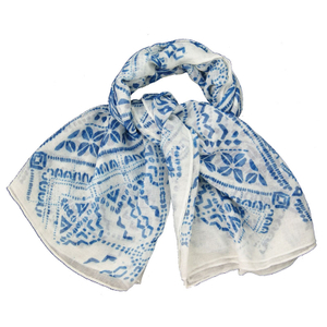 Women Fashion Scarf Cotton Scarf with Jacquard Woven Scarf