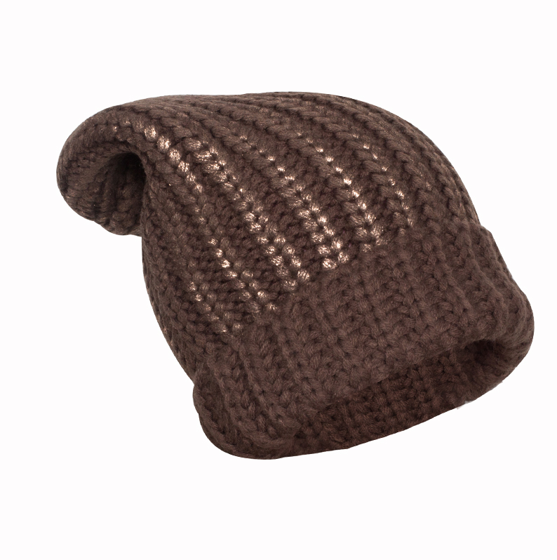 Fashion Beanie Hot Sale Caps Knitted Winter Warm Beanies with metal yarn