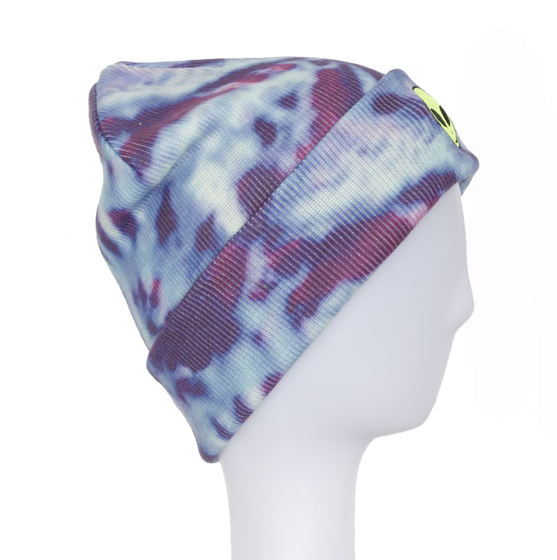 2018 New Design Knitted Beanies with Sublimation Printing