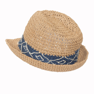 High Quality Raffia Paper Boater Floppy Straw Hat Panama Summer Beach Sun Hats