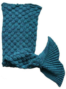2018 New Arrival Knitted Sea-Maid Mermaid Tail Blanket for Kids and Adults