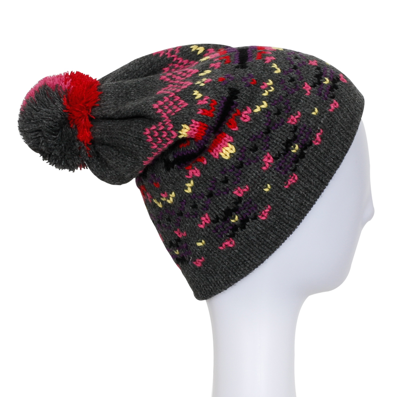 Lady Fashion Beanie Hot Sale Caps Knitted Winter Warm Beanies with Pompom