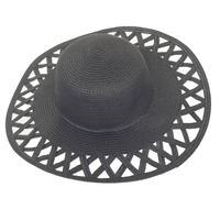 New Design Women′s Paper Straw Beach Hat with Bonnet