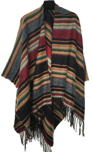 wholesale woman fashion poncho cross pattern wool scarf shawl wraps blanket