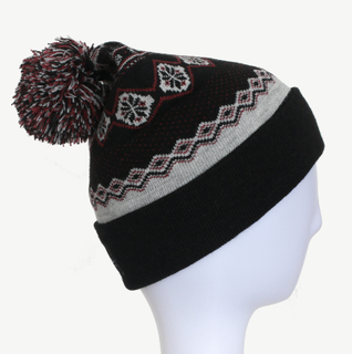 Fashion Unisex Customized Colorful Jacquard Knitted Hat/Cap Beanie Hat with Pompom