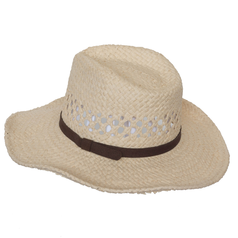 Unisex Fashion Wholesale Customzied Handmade Weaving Fedora Hats Paper Straw Hat Beach