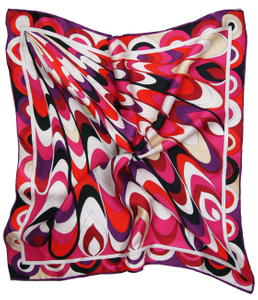 Womens Colorful Print Big Square Silk-like Satin Scarf Wrap Kerchief