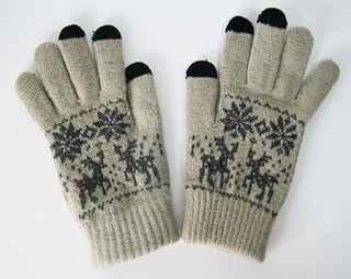 Small MOQ Hot Sale Acrylic Knitted Jacquard Winter Glove Magic Screen Touch Glove
